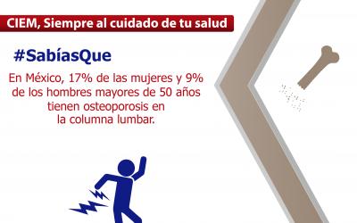 Cuida tus huesos de fracturas ocasionadas por la osteoporosis
